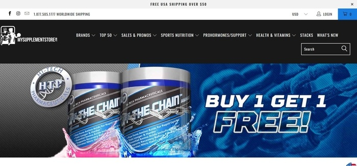 screenshot of the affiliate sign up page for My Supplement Stor