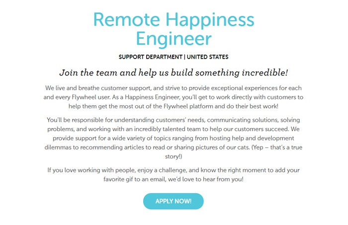 Remote Happiness Engineer