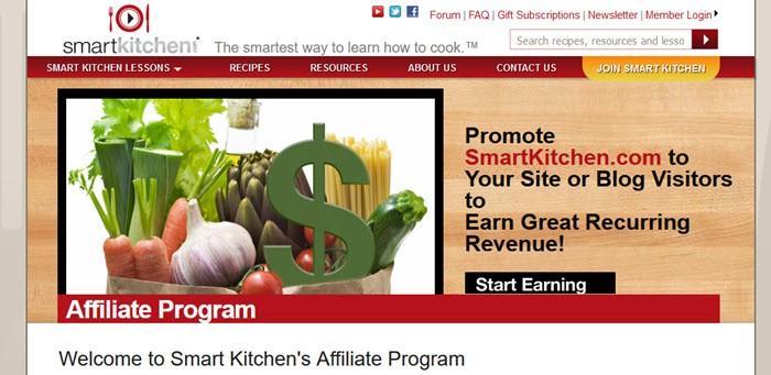 Smart Kitchen Website Screenshot showing various fresh foods