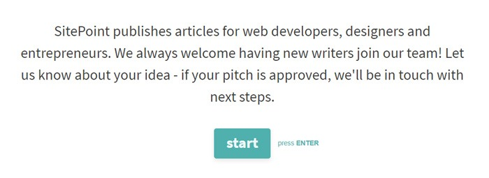 Submitting A Pitch To SitePoint