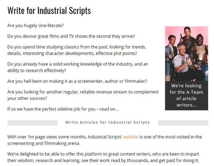 Write For Industrial Scripts