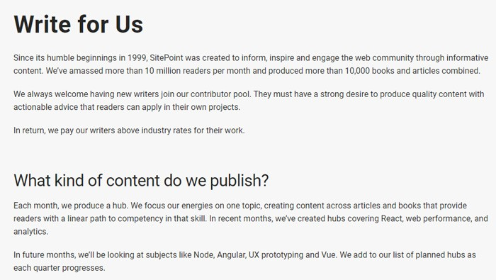Write For SitePoint