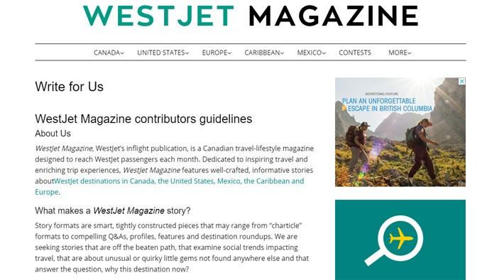 Write For WestJet