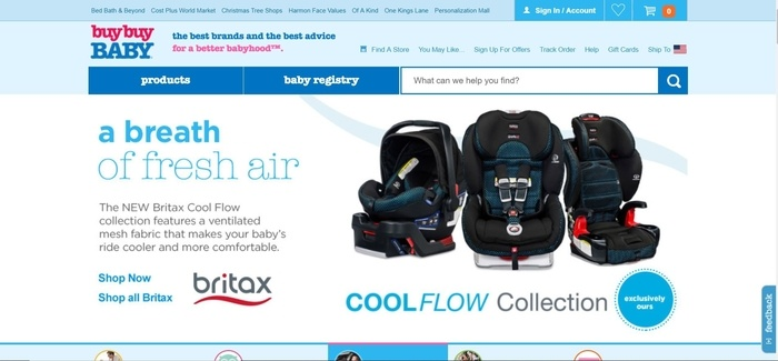 screenshot of the affiliate sign up page for buybuy Baby