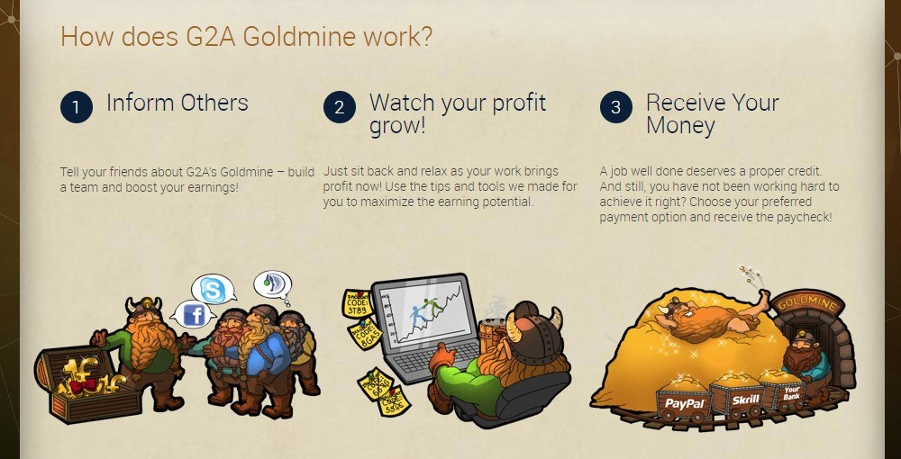 g2a goldmine affiliate signup page