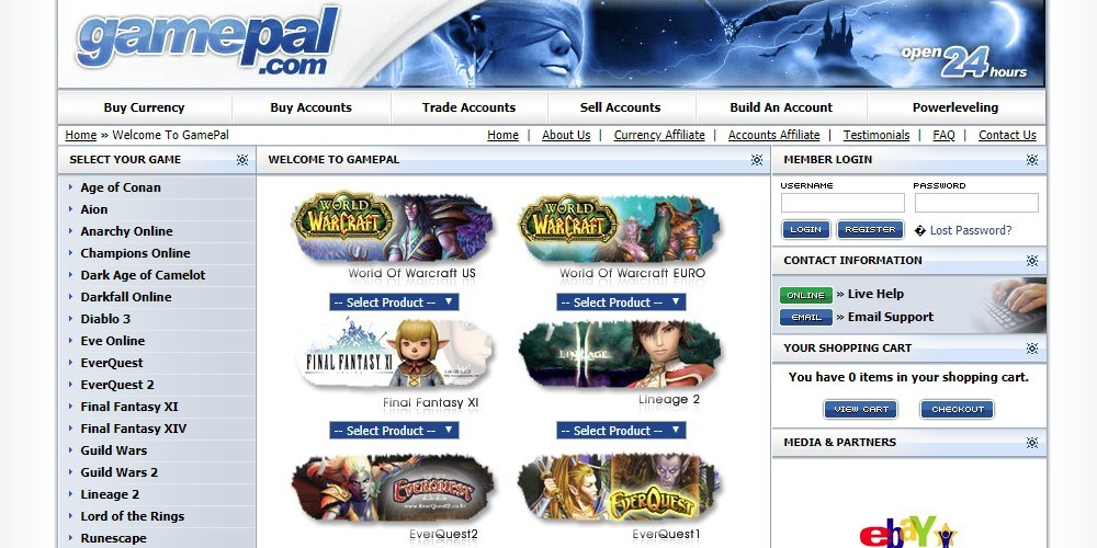 gamepal home page