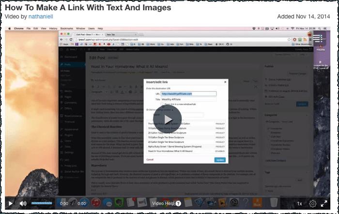 make link text images