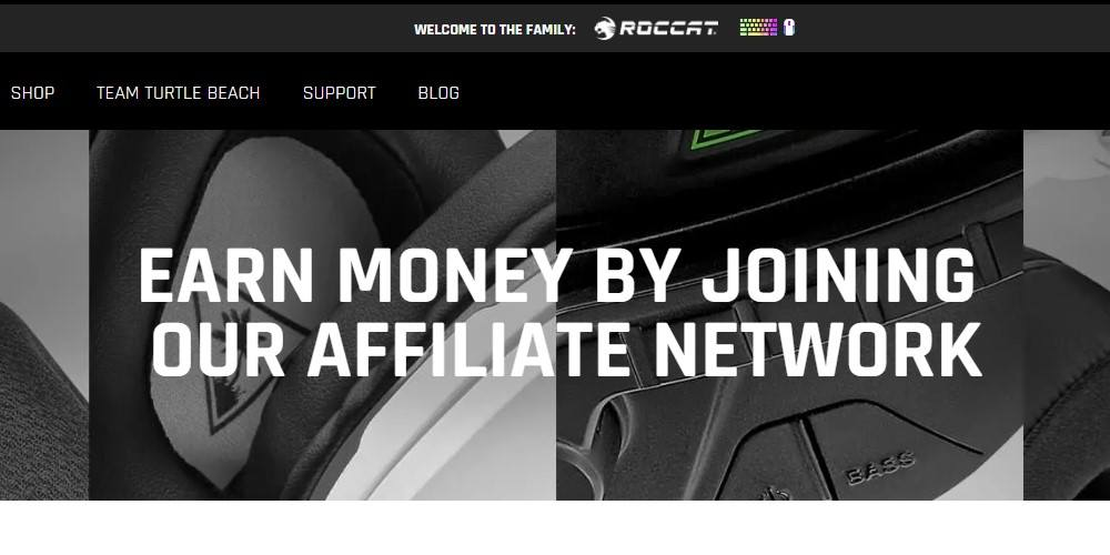 turtle beach affiliate signup page
