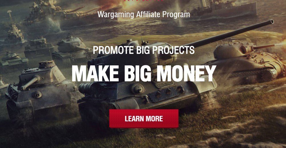 wargaming affiliate sign up page