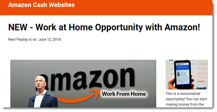 Amazon Cash Websites