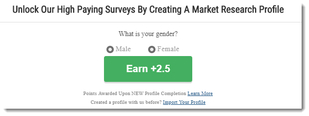 Create a Market profile