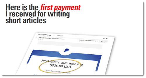 First Writing Payment