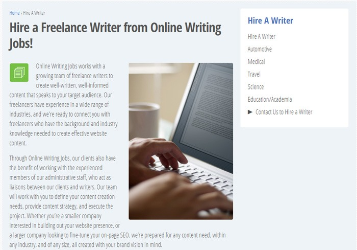 Hire A Freelance Writer On Online Writing Jobs