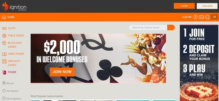 screenshot of the affiliate sign up page for Ignition Casino