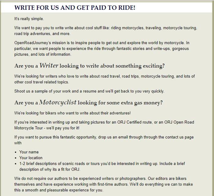 Write For OpenRoadJourney