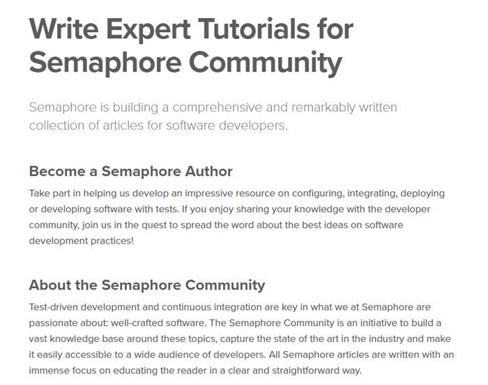 Write For Semaphore