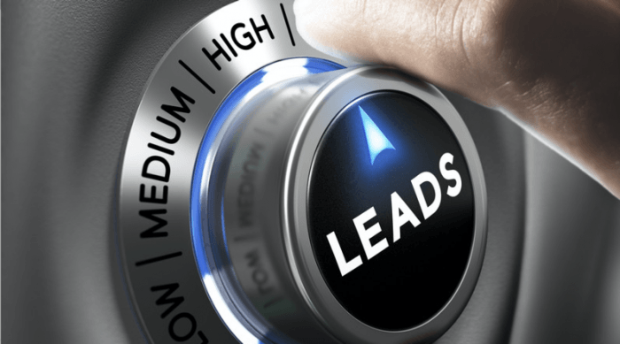 dial showing number of leads being turned from low to high, representing lead generation
