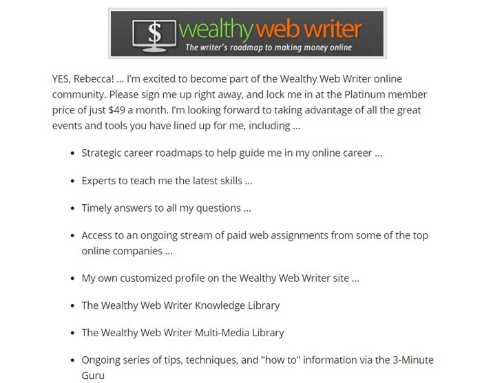 Buying A Membership On Wealthy Web Writer