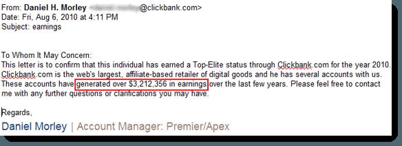 Clickbank letter