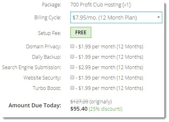 Cost of Hosting