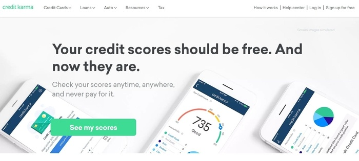 screenshot of the affiliate sign up page for Credit Karma