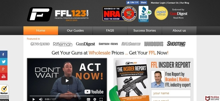 screenshot of the affiliate sign up page for FFL123