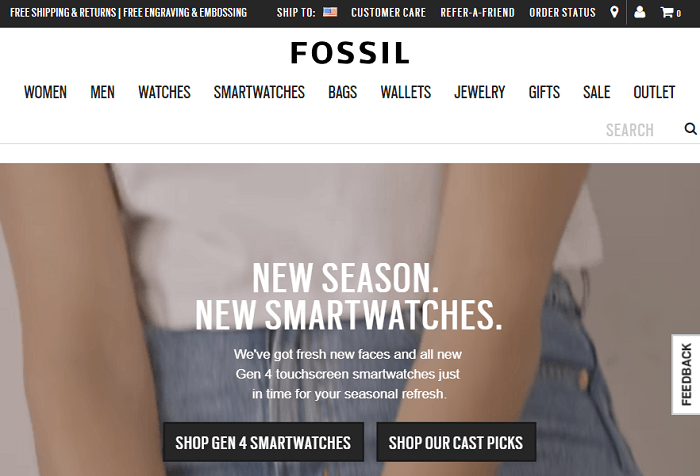 Fossil Watches Home Page