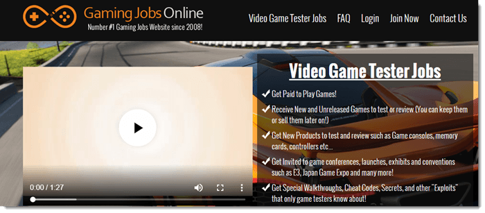 Gaming Jobs Online Review