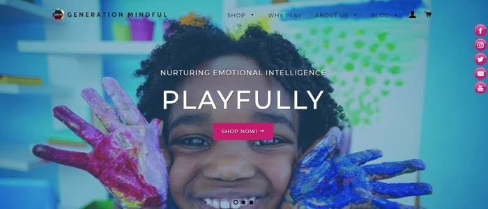 screenshot of the affiliate sign up page for Generation Mindful