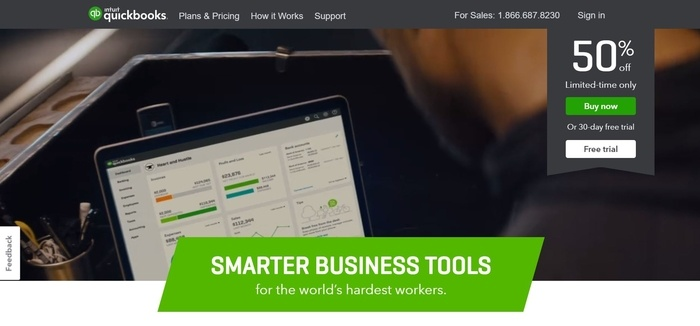 screenshot of the affiliate sign up page for Intuit Small Business