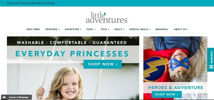 screenshot of the affiliate sign up page for Little Adventures