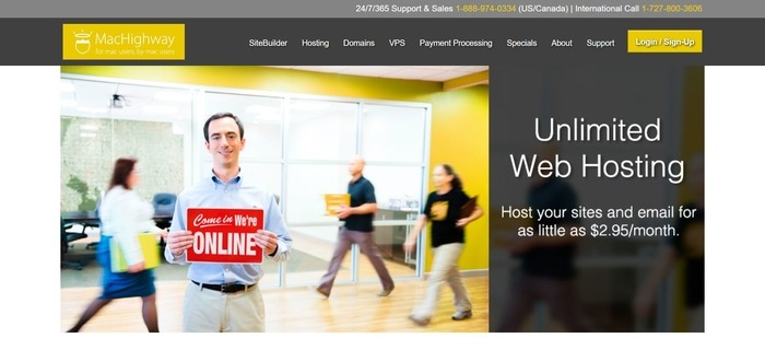 screenshot of the affiliate sign up page for MacHighway