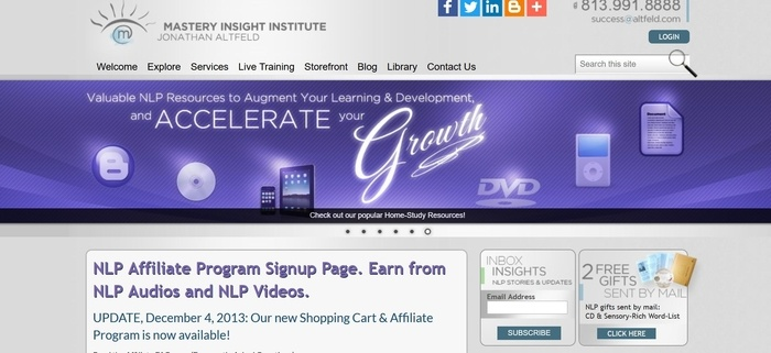 screenshot of the affiliate sign up page for NPL