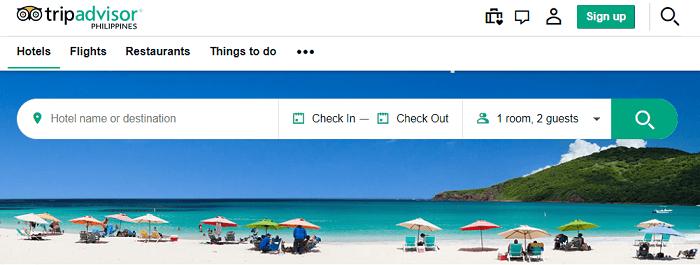 Trip Advisor affiliate Home Page