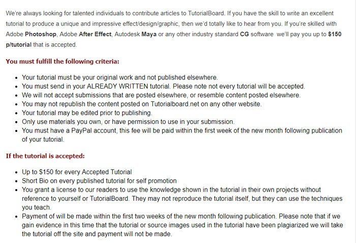 Tutorial Board Submission Guidelines