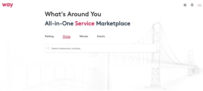 screenshot of the affiliate sign up page for Way