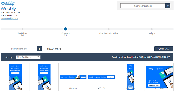 Weebly Affiliate Tools