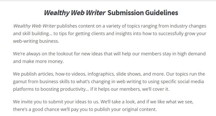 Writing For WealthyWebWriter