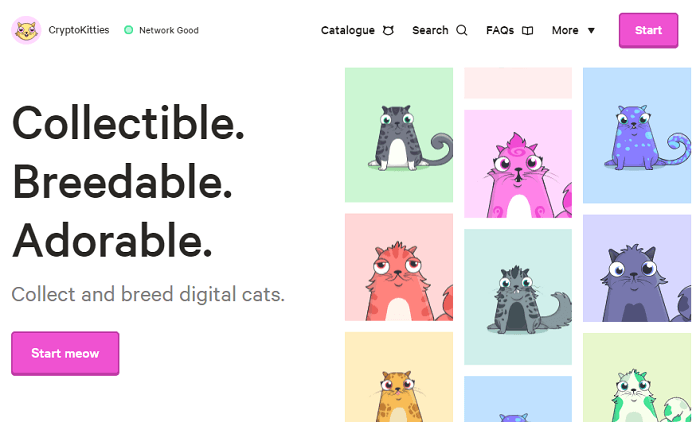 screenshot of cryptokitties home page where I'm trying to make money