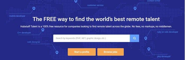 Hubstaff Talent website screenshot