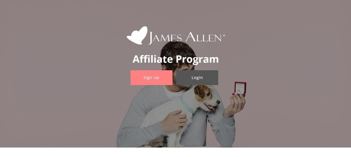 screenshot of the affiliate sign up page for James Allen