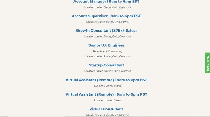 Jobs Available On Zirtual
