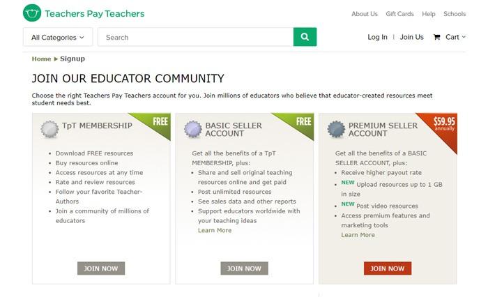 Join Teachers Pay Teachers