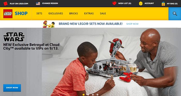 Lego.com Home Page