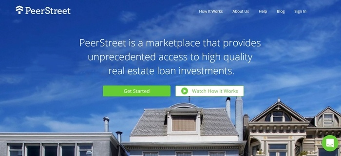 screenshot of the affiliate sign up page for PeerStreet
