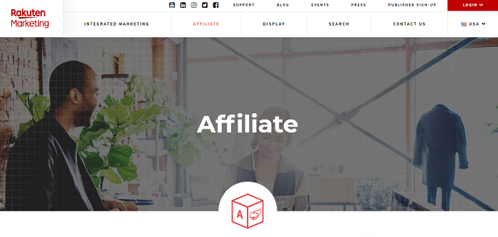 Rakuten Affiliate Network Program Review Home Page