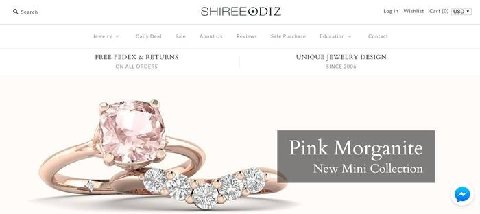 screenshot of the affiliate sign up page for Shiree Odiz