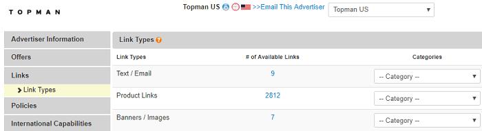 Topman Affiliate Program Tools