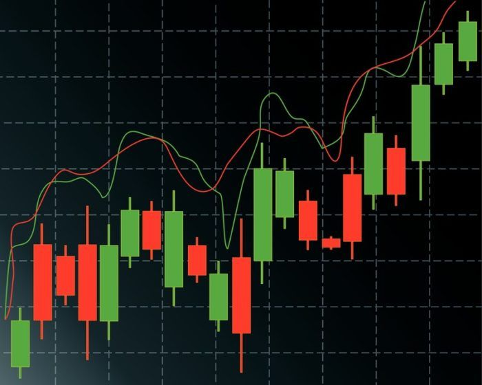graph of rising candlesticks representing best investment affiliate programs