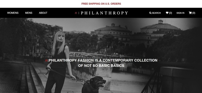 screenshot of the affiliate sign up page for nPhilanthropy